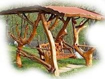 Качели дубовые
