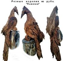 Резные фигуры из массива дуба.